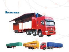 New Design Cargo Box Semi Trailer, Van Trailer, Strong Box Utility Trailer