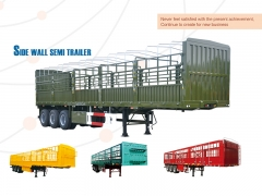 New Design Bulk Cargo Transport Fence Semi Trailer, Side Wall Semi Trailer
